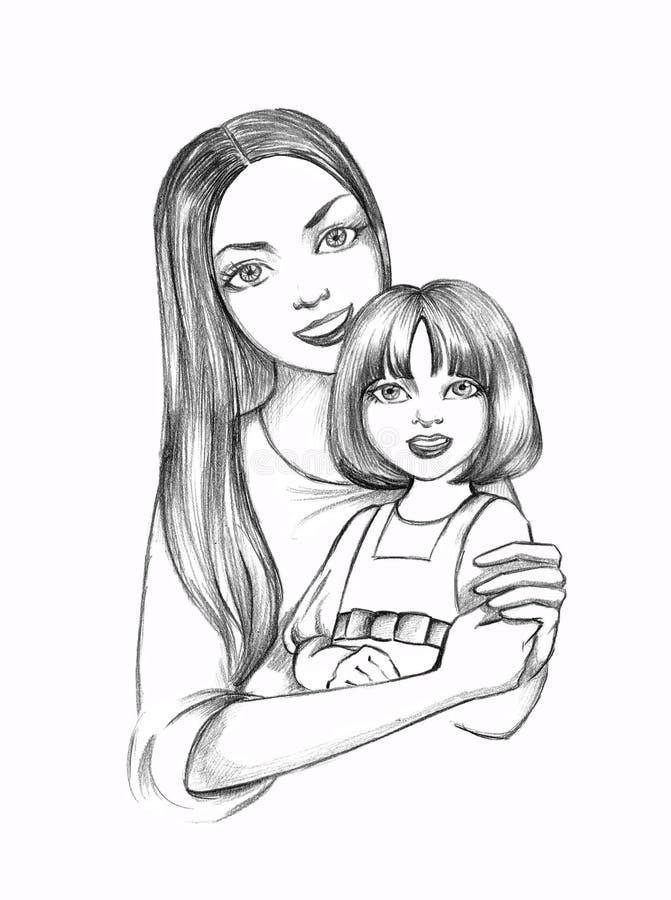 matka córkę ilustracji