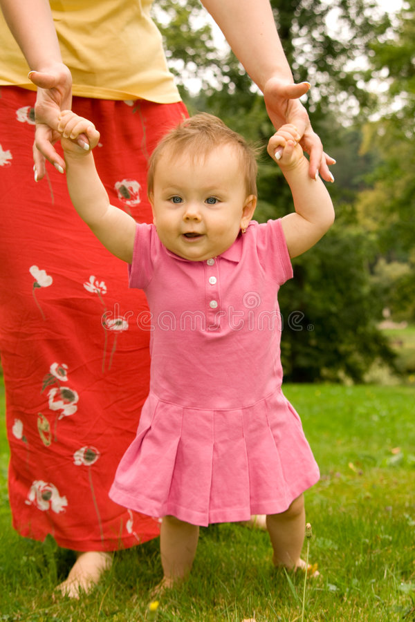 matka córka ogrodu obrazy royalty free