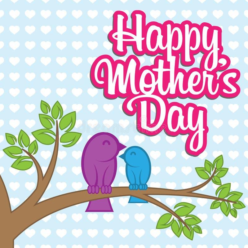 Matka dnia życzenia Wektorowa karta ilustracji