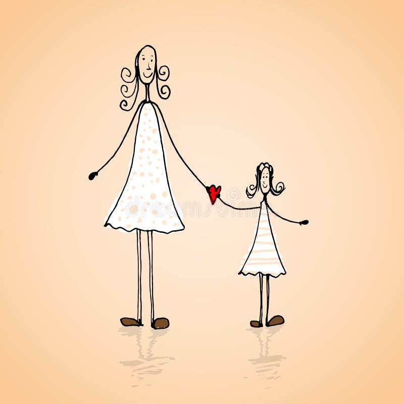 Matka dnia ilustracja royalty ilustracja