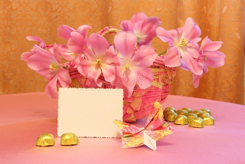 Matka dnia Karciany lub Wielkanocny wizerunek - Akcyjne fotografie obraz royalty free