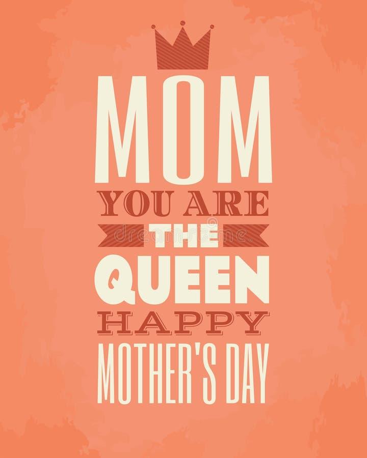 Matka dnia karta ilustracji