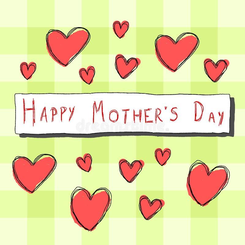 Matka dnia karta ilustracja wektor