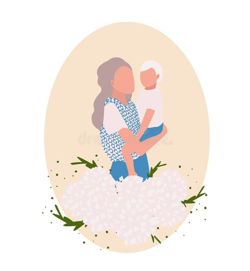 Matka dnia karta, ilustracja wektor