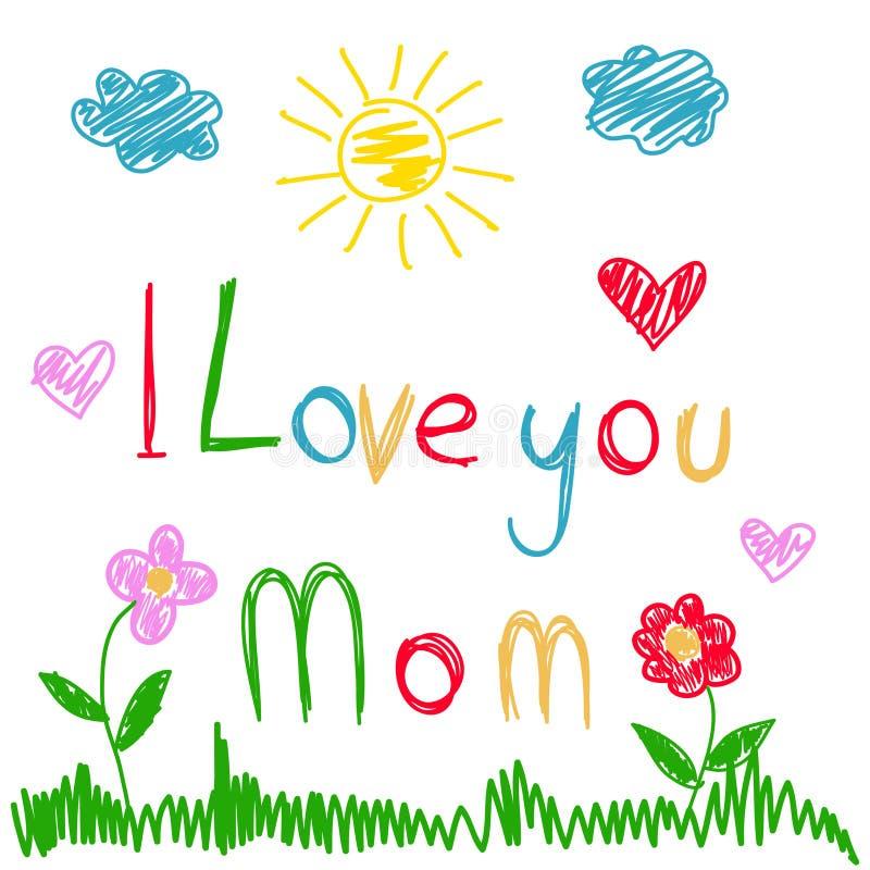 matka dnia kartka z pozdrowieniami ilustracja wektor