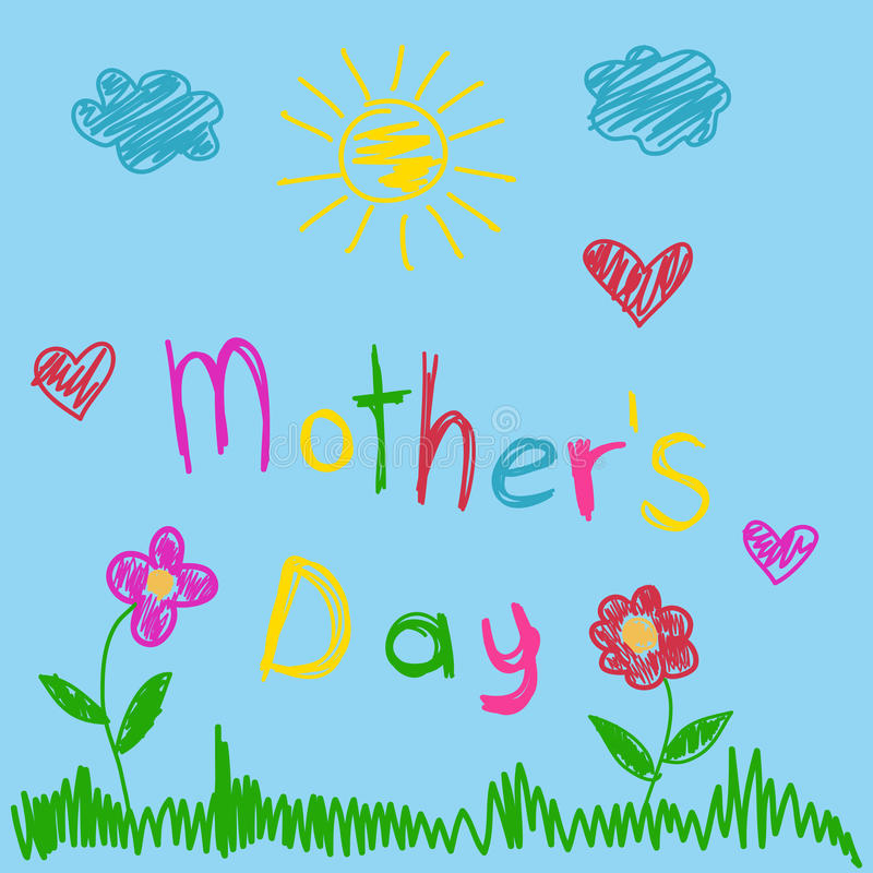 matka dnia kartka z pozdrowieniami royalty ilustracja