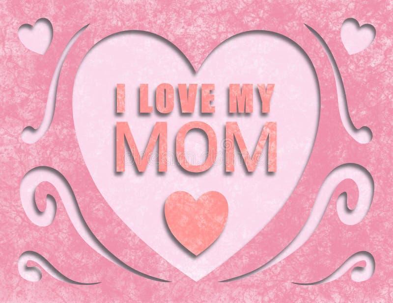Matka dnia karty papier ciie Mnie out Kocha Mój mamy fotografia stock