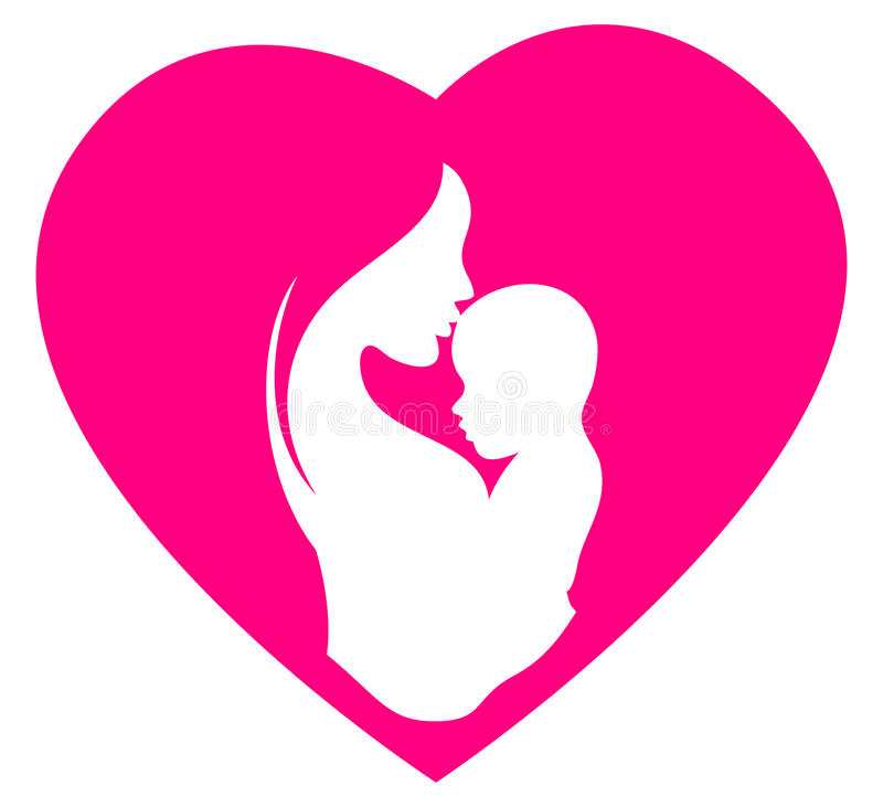 Matka dnia logo ilustracja wektor