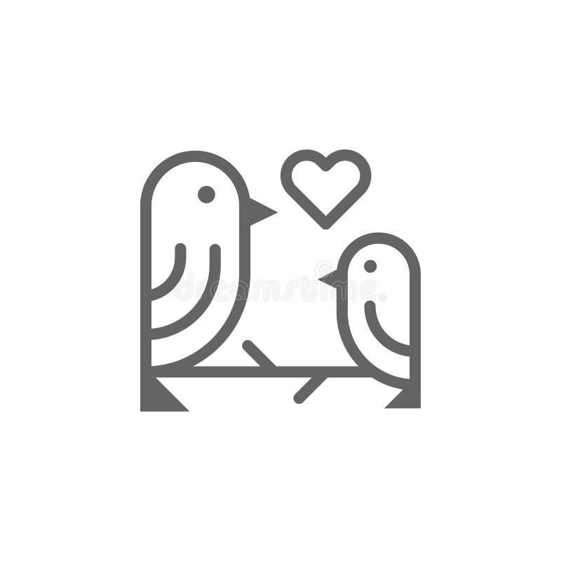 Matka dnia ptak?w konturu ikona r Znaki i symbole mog? u?ywa? dla sieci, logo, mobilny app royalty ilustracja