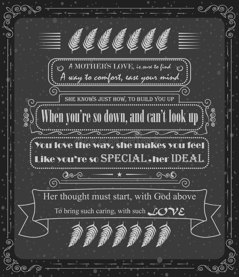Matka dnia szablonu rocznika modnisia wektorowy projekt royalty ilustracja