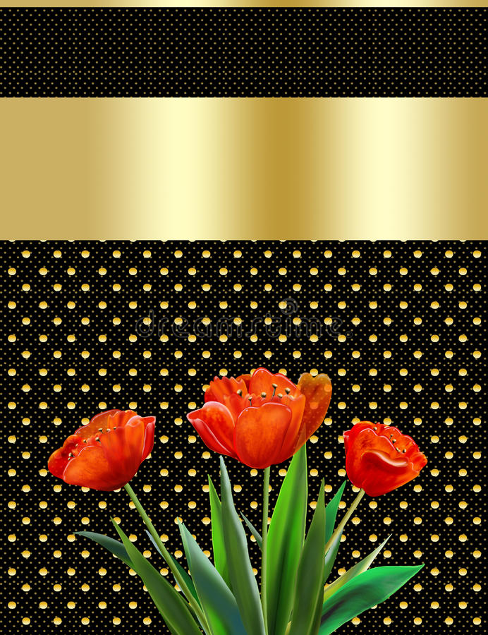 Matka dzień, abstrakcjonistyczny tło, tulipan, kartka z pozdrowieniami ilustracji