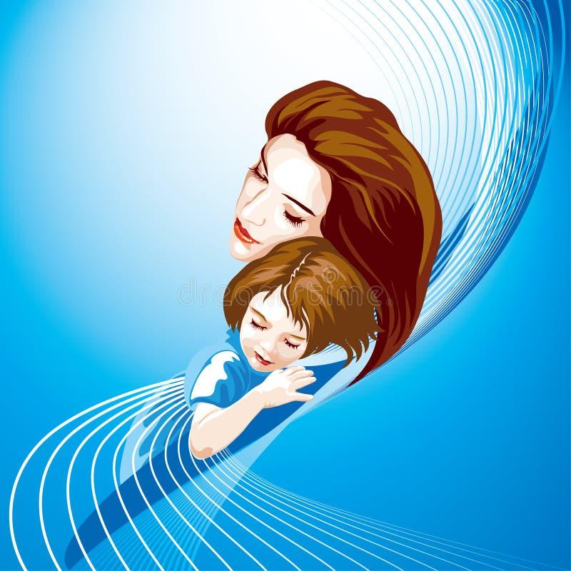 matka dziecka barwiąca