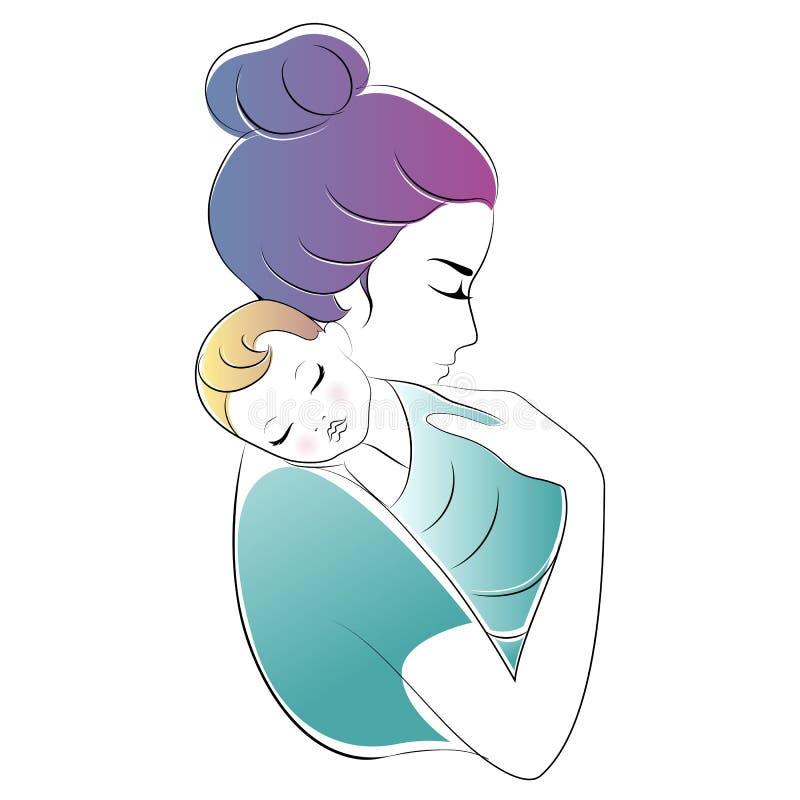 matka dziecka Matka dnia wektoru ilustracja royalty ilustracja