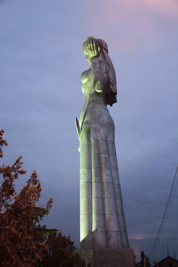 Matka Gruzja statua w Tbilisi Gruzja zdjęcie stock