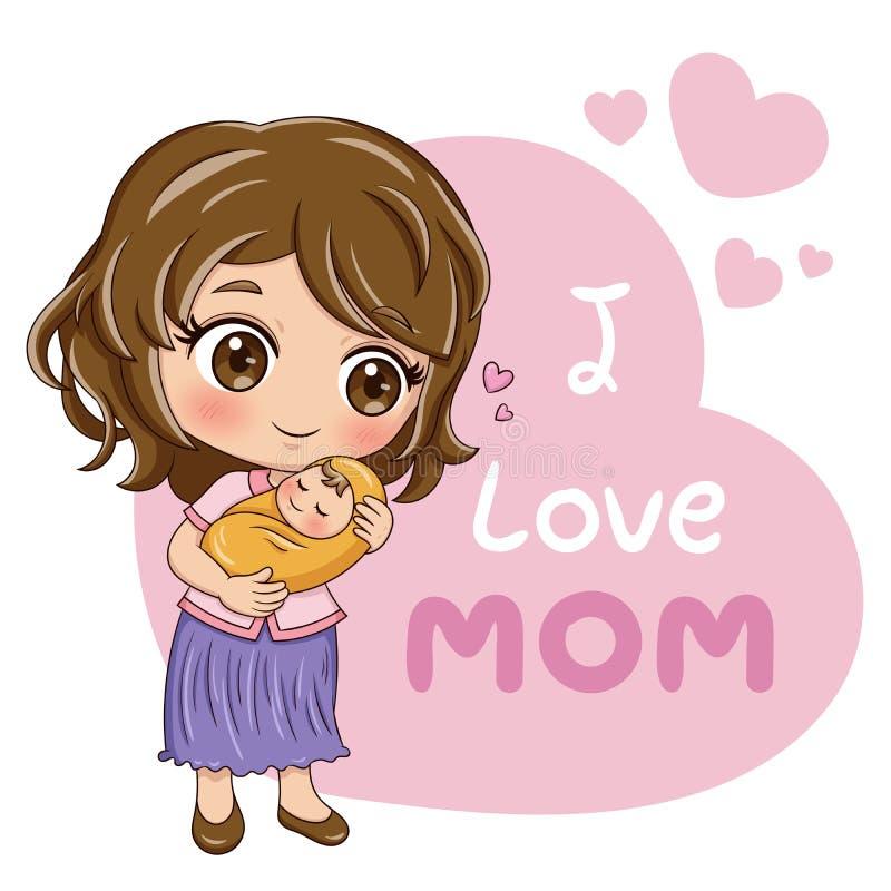 Matka i Baby_1 ilustracja wektor