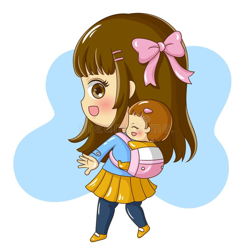 Matka i Baby_4 ilustracji