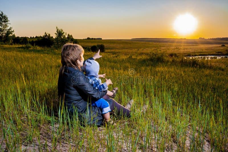 Matka i dziecko obrazy stock