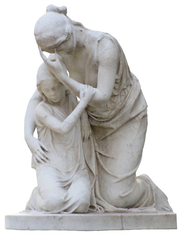 Matka i dziecko Opłakuje statuę obraz royalty free