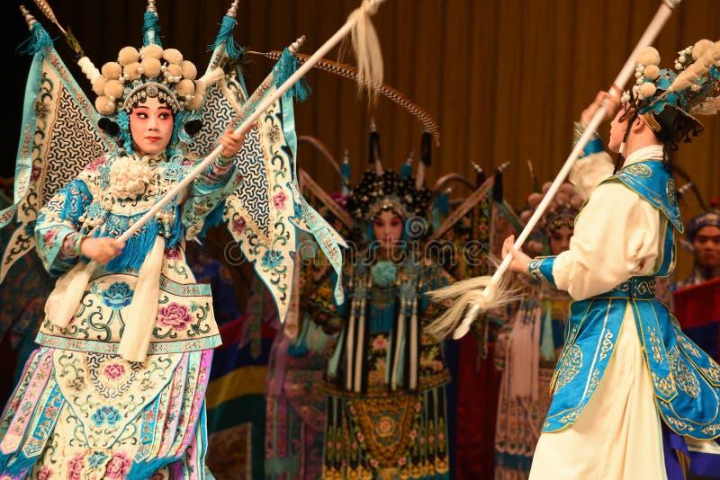 "Matka i syn generała Pekin Opera"" kobiet generałowie Yang Family† fotografia royalty free"
