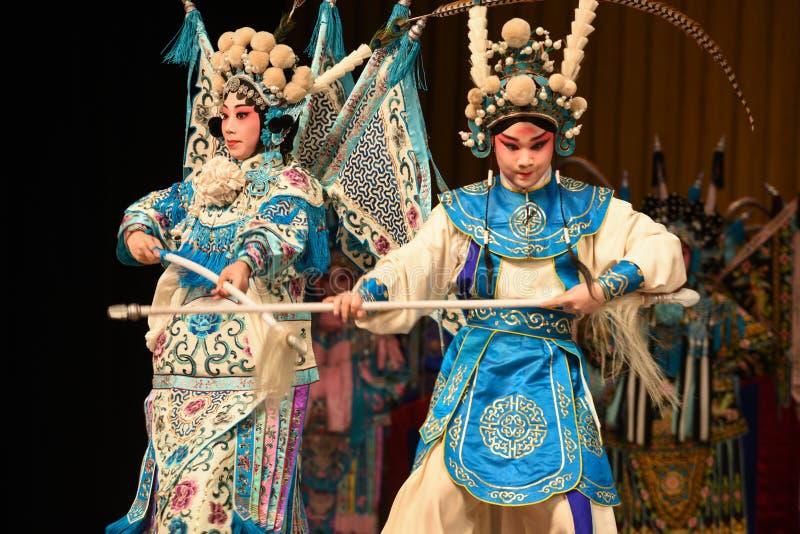 """Matka i syn rywalizaci Pekin Opera"""" kobiet generałowie Yang Family† zdjęcie stock"""
