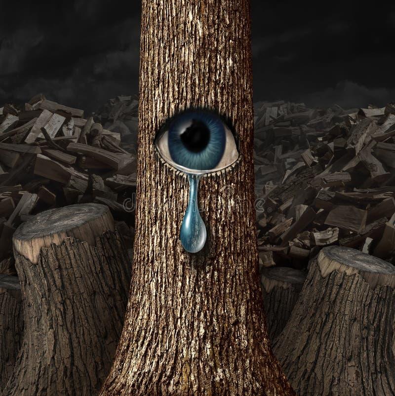 Matka Natura płacz royalty ilustracja