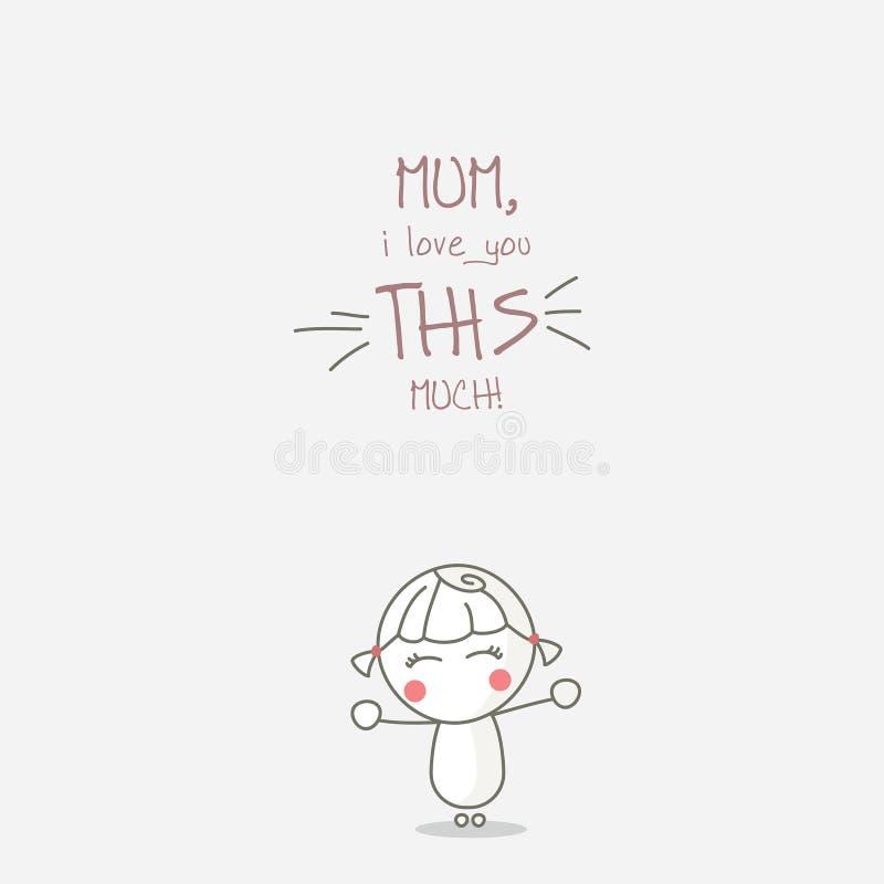 Matka szczęśliwy dzień ilustracji