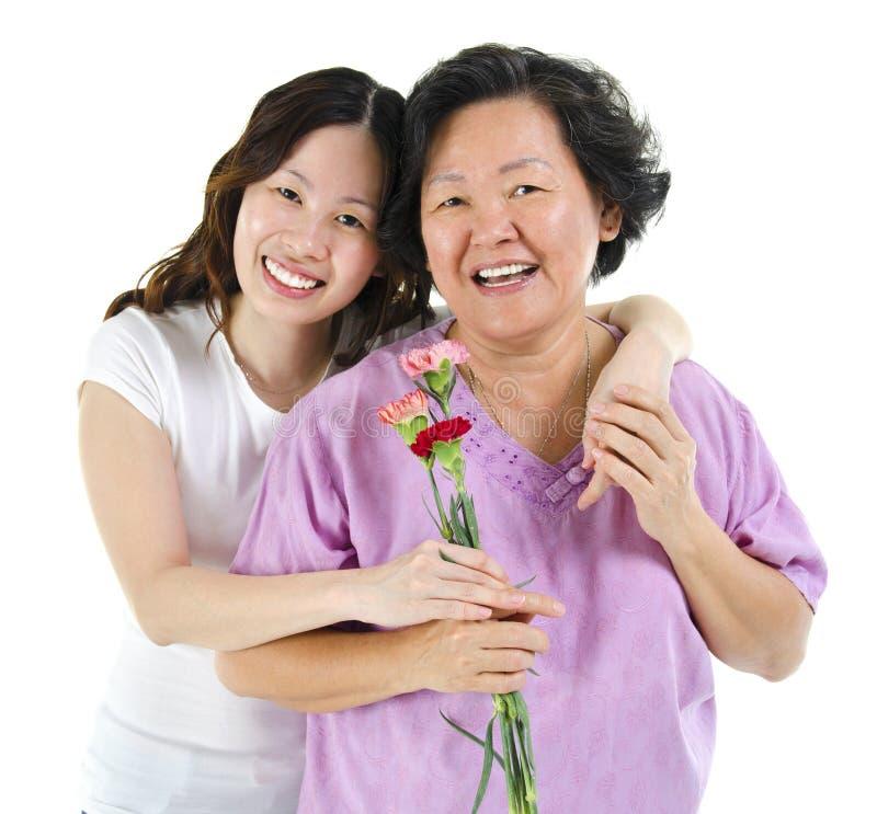 Matka szczęśliwy dzień obrazy stock