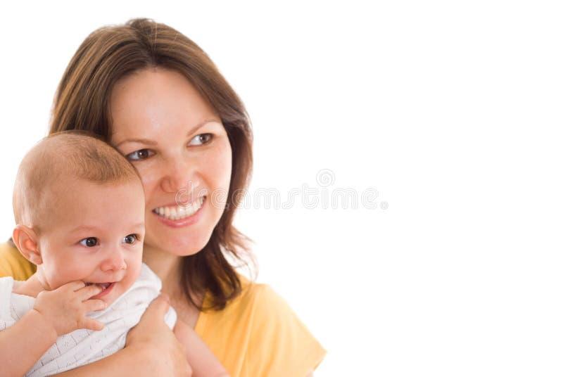 Matka trzyma dziecka zdjęcia stock