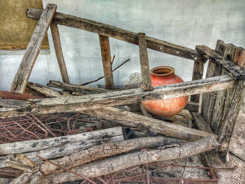 Matka under Broken Stand stock photo