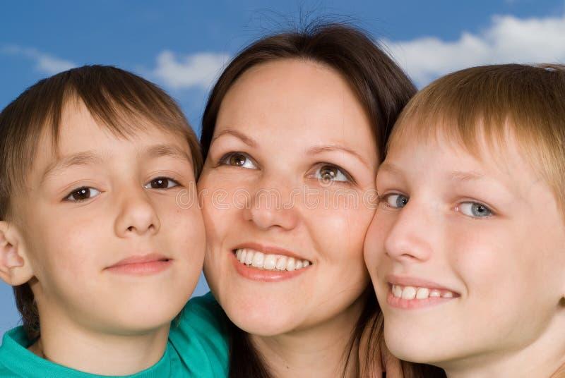 Matka z dziećmi obrazy stock