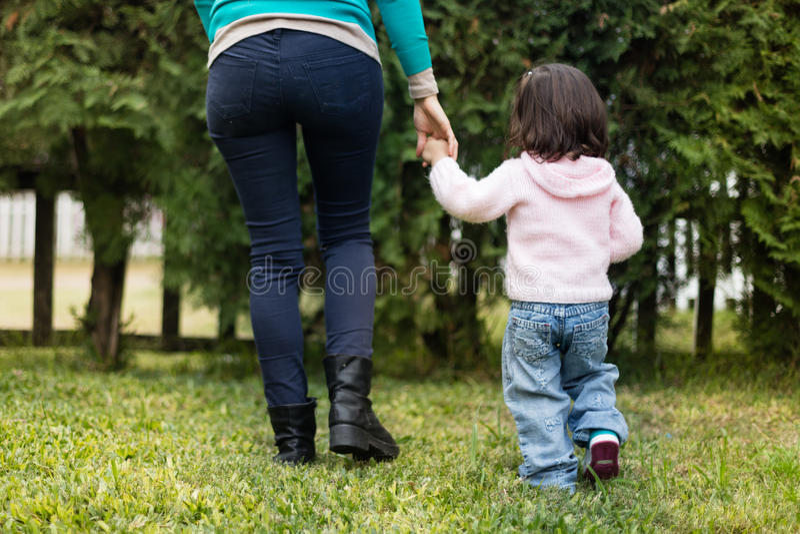 Matka z jej córką obrazy royalty free