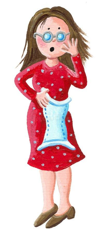 Matka z pieluszką ilustracja wektor