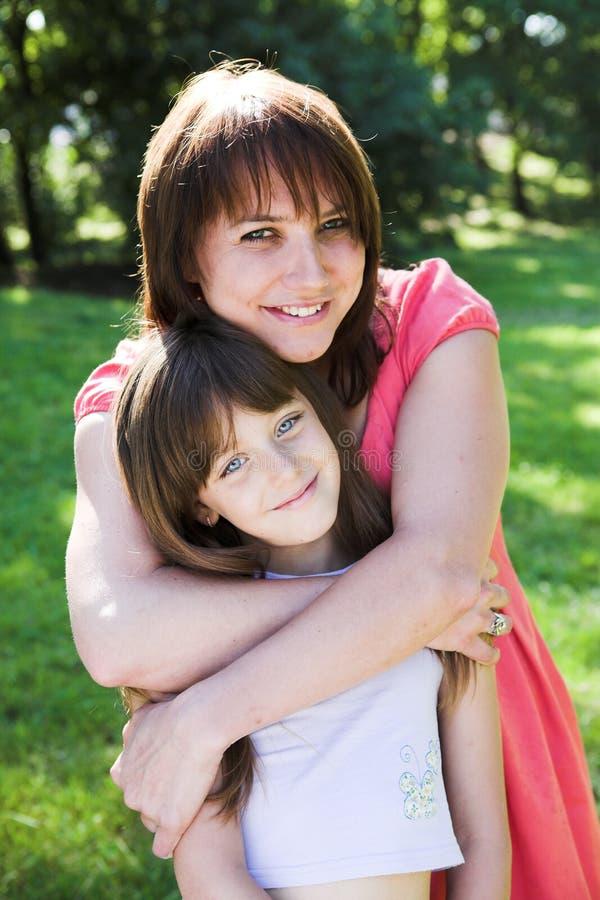 Matki i córki ja target612_0_ plenerowy zdjęcie stock