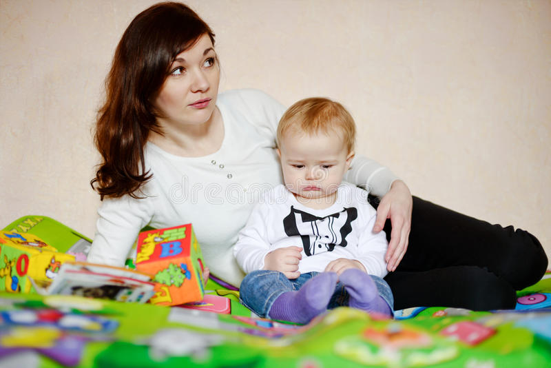 Matki i dziecka syn zdjęcie stock