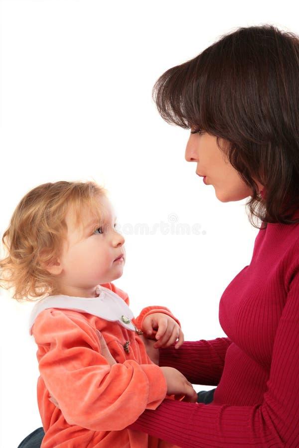 matki z córkę zdjęcia royalty free