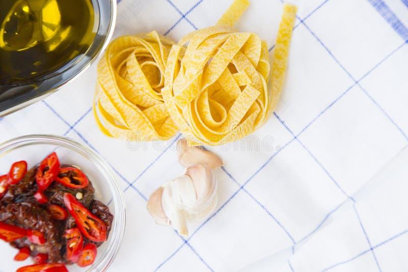 Matlagningbegrepp - uppsättning av sunda produkter arkivbilder
