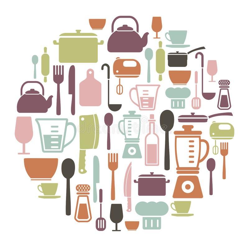 Matlagningkort stock illustrationer
