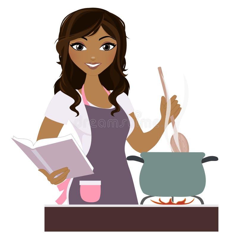 Matlagningkvinna vektor illustrationer