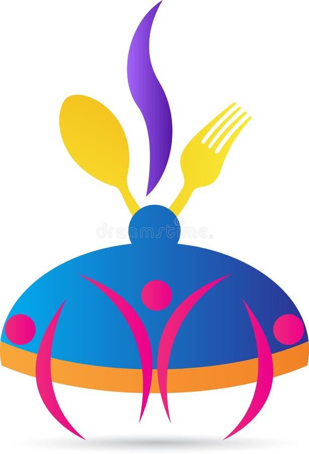 Matlagninglogo vektor illustrationer