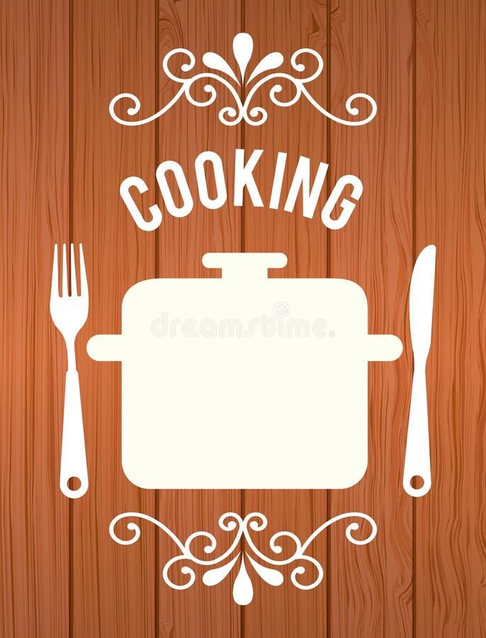 matlagningmat vektor illustrationer