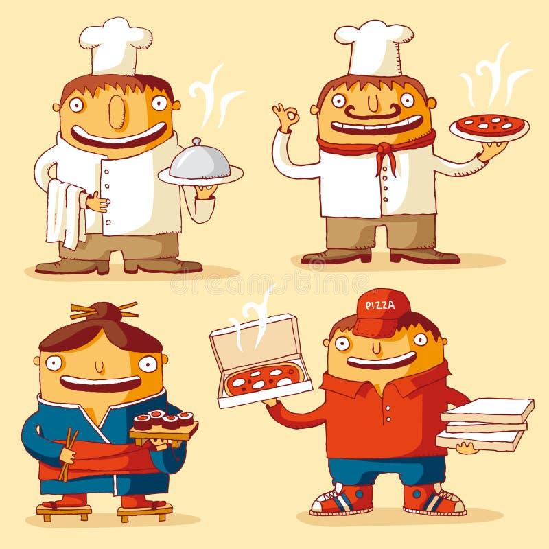 matlagningvärld stock illustrationer