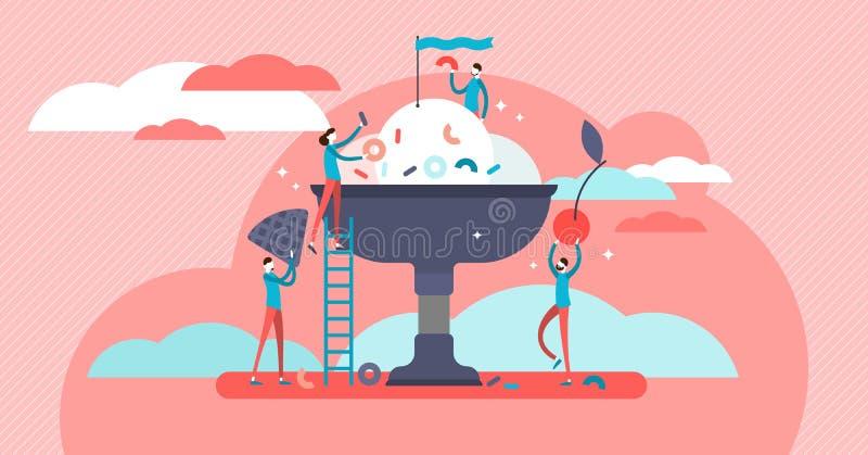 Matlagningvektorillustration Stiliserad och konstnärlig matförberedelse royaltyfri illustrationer