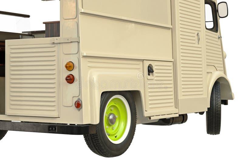 Matlastbilkafé på hjul, slutsikt vektor illustrationer