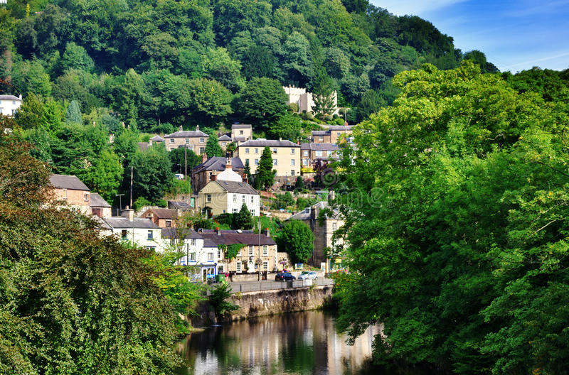 Matlock bad i Derbyshire royaltyfria bilder