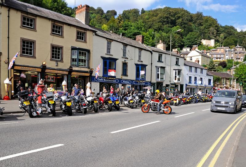 Matlock Bath High Street. stock photo