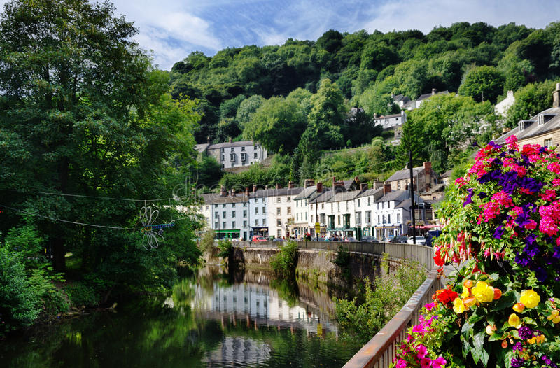 Matlock Bath and River Derwent royalty free stock photography