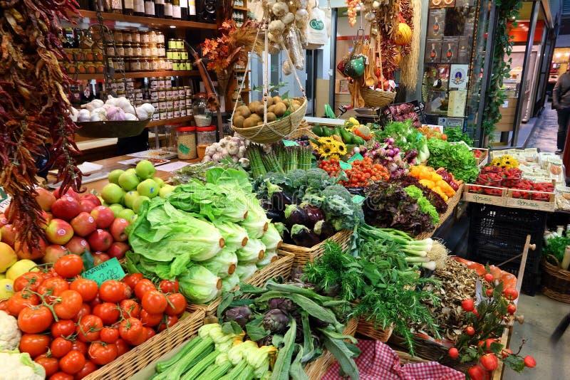 Matmarknad i Italien royaltyfri fotografi