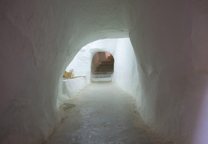 Matmata jest małego Berber obcojęzycznym miasteczkiem w południowym Tunezja obraz royalty free