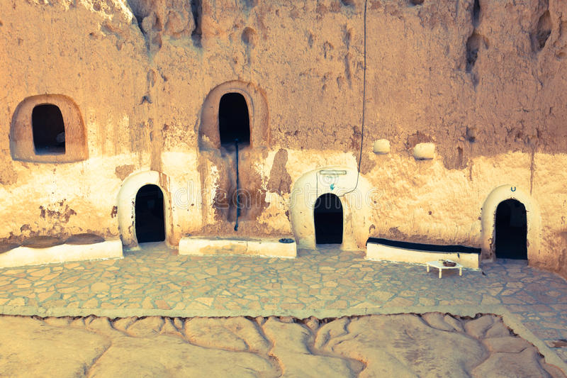 Matmata, Tunesië Het grootste gebied van holbewonercommuniti stock foto's