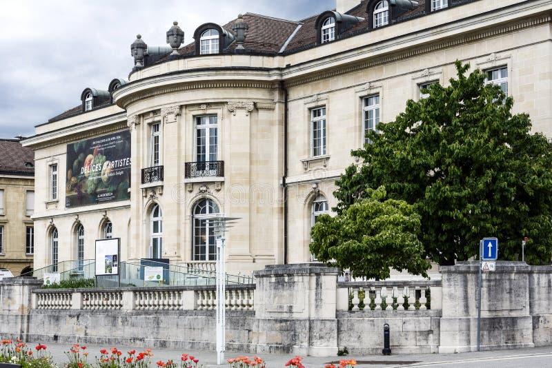 Matmuseumbyggnad i Vevey royaltyfri fotografi